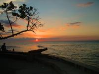 puesta de sol en choroni