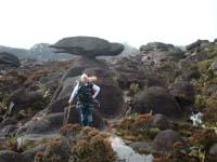 roca haciendo equilibrio en la cima de roraima