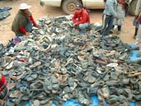 vendiendo zapatos