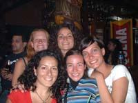 con las chicas argentinas