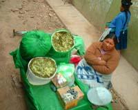vendedora de hojas de coca